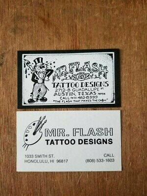 MR. FLASH Tattoo Designs Business Cards