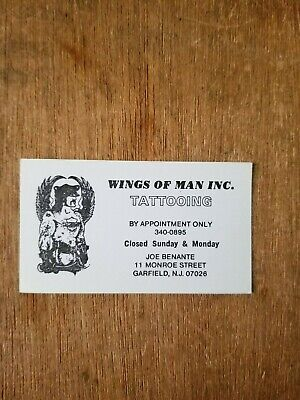 Wings of Man Inc. - Joe Benante Tattoo Business Card