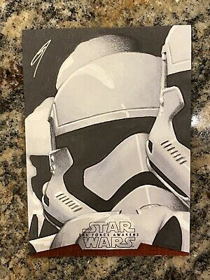 Topps Star Wars Sketch Card Stormtrooper 1/1 The Force Awakens Series Sp