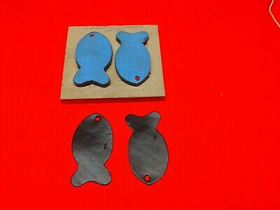 """Leather Tool - CLICKER DIE For Making 2 Fish - 4"""" x 2 1/4"""""""