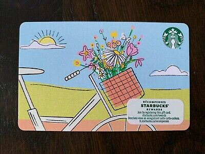 """Canada Series Starbucks """"SPRING FLOWERS 2020"""" - Recyclable Card - New No Value"""