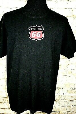 Phillips 66 T-shirt distressed vintage style heather grey tee Free Shipping