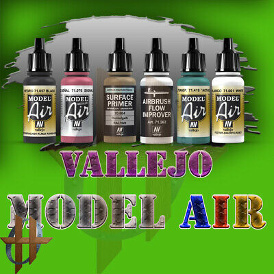 Vallejo Model Air Paint 17 ML 250 Different Choices Airbrush Miniatures Paints