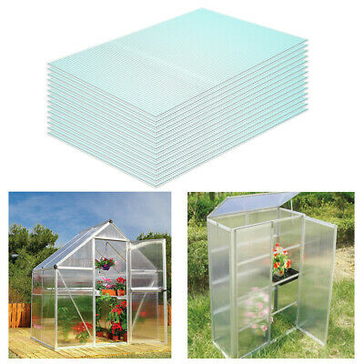 14pcs Clear Polycarbonate Twinwall Sheets 4mm Double Wall Panel Greenhouse Sheet
