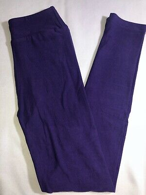 LuLaRoe Kids L/XL Leggings New Solid Dark Purple Fits Sizes 8-12