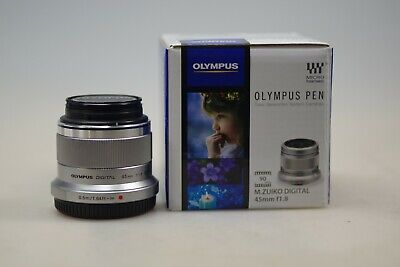 Olympus M.ZUIKO Digital 45mm for /1.8 Prime Lens, Silver Used Boxed