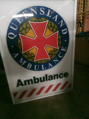 large sign Queensland Ambulance