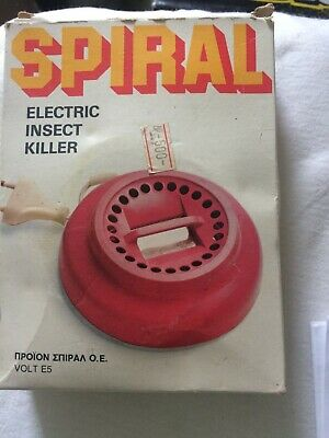 Vintage . Spiral Electric Insect Killer In Orginal Box