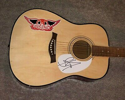 "Steven Tyler Aerosmith Autographed Signed 41"" Customized F/S Acoustic Guitar Coa"