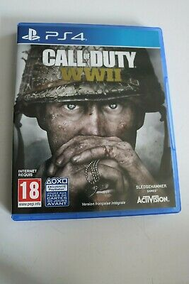 jeu pour console sony playstation 4 / CALL OF DUTY WWII activision guerre ww2