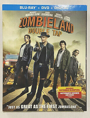 NEW - Zombieland Double Tap 2 Blu-ray+DVD+Digital with slipcover 2019