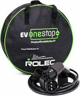 Rolec EV onestop Electric Vehicle Charging Cable  Type 2 to Type 2  32 Amp 10 Me
