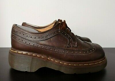 Vintage Womens Dr Martens Brown Brogues Shoes Made in England - UK 5