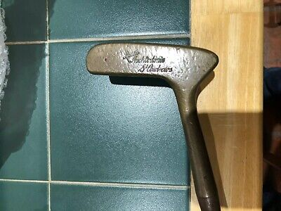 Hickory Golf Club Laurie Autchterlonie Brass Head Putter Lovely Play Club Rare