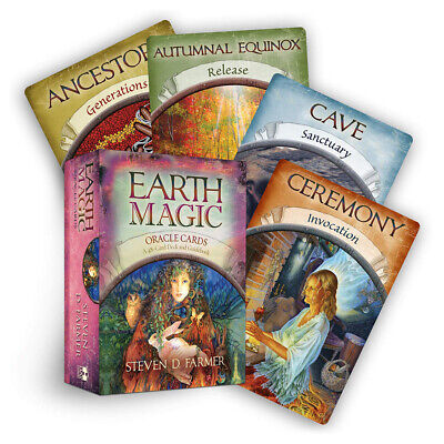 Magic Oracle Cards Earth Magic Read Fate Tarot 48-Card Deck And Guidebook Newest