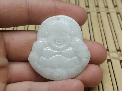 AAAAA Chinese Hand-carved aristocratic wearing Jadeite jade pendant (Buddha)