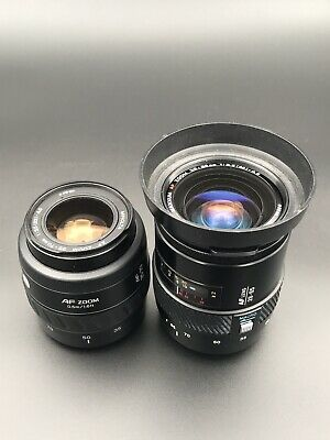 Two Minolta AF Lenses: 28-85mm F3.5-4.5 and 35-70mm F3.5-4.5 Sony A-mount