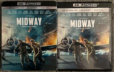 Midway 4K Ultra Hd Blu Ray 2 Disc Set + Slipcover Sleeve Based On Real Events