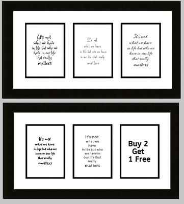 Who We Have In Life Print Poster Family Love Unframed Home Quote Gift Nursery