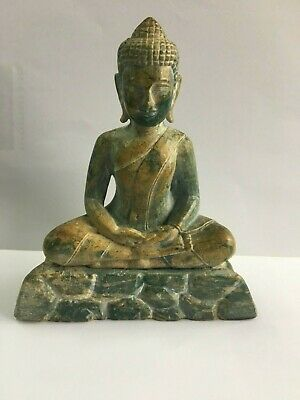 Vintage Chinese Carved Hardstone Figure Of A Seated Buddha