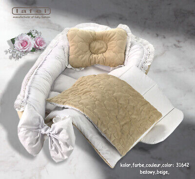 Baby nest Elegant, exclusive baby nest,cocoon, decorated with decorative gipiure