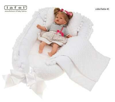 Elegant, exclusive baby nest, cocoon,  decorated with decorative gipiure Pl