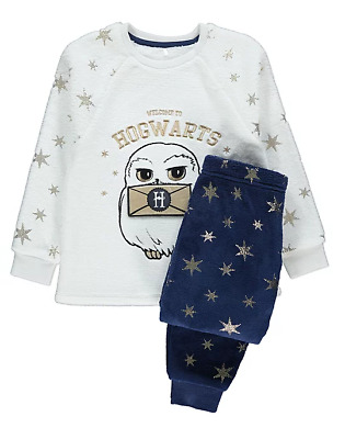 Girls Harry Potter Hogwarts Owl Hedwig Fleece Pajamas Age  9-10 BNWT