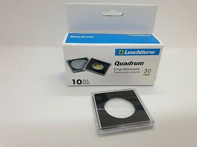 10 Lighthouse Square Coin Capsules Quadrum size 30mm inside 50 x 50 outer
