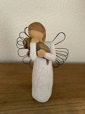 Willow Tree Angel of Friendship Figurine Susan Lordi Ornament Wings Dog Love
