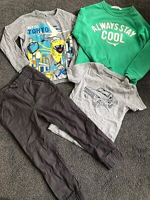 Boys Aged 7 Years Bundle 6-8 Years H&m Marks And Spencer Trousers Top