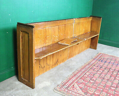 Long Vintage Church Bench, Pine Pew, Refurb Project, Farmhouse, Kitchen, Seating