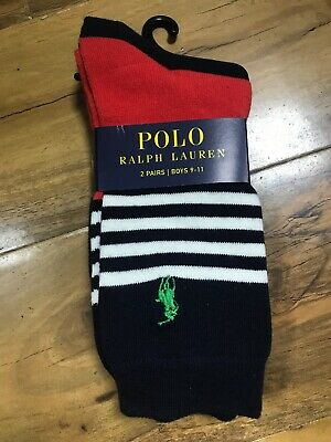 BNWT Polo Ralph Lauren Boys 2 Pairs Of Socks