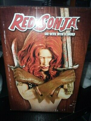 Sealed Misb Mint Bust Red Sonja She-Devil With A Sword Dynamite Statue Dell'otto