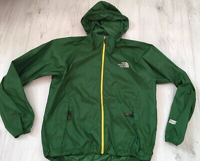 The North Face Mens Green Hooded Lightweight Raincoat Jacket Size XL Waterproof