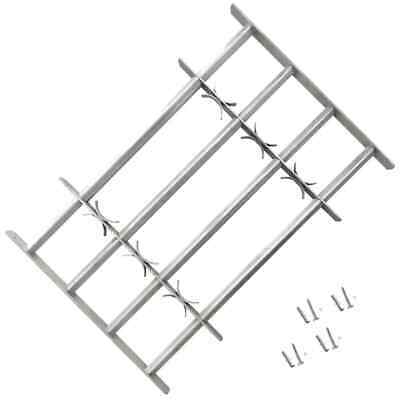 vidaXL Adjustable Security Grille for Windows with 4 Crossbars 500-650mm Safe