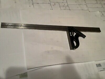 L.S. STARRETT Combination Square 18 Inch C11H-12-4R 4R