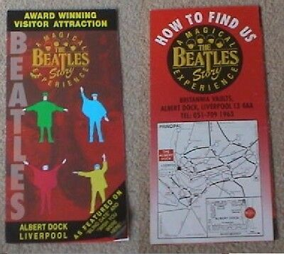 2003 The Beatles Story Magical Experience Liverpool Leaflet Albert Dock Fold Out