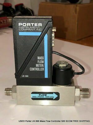 USED Porter LB-366 Mass Flow Controller 500 SCCM FREE SHIPPING