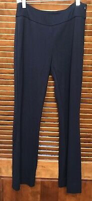 Cabi Trouser Dress Pants Size 4 Womens Style 5312 Navy Blue Side Zip Stretch