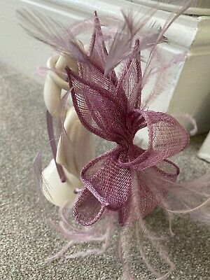 dusky pink Wedding fascinator headband Ladies Day Races Ascot Christenings