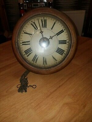 Antique Black Forest Shield Dial Wall Clock Movement For Restoration 1840