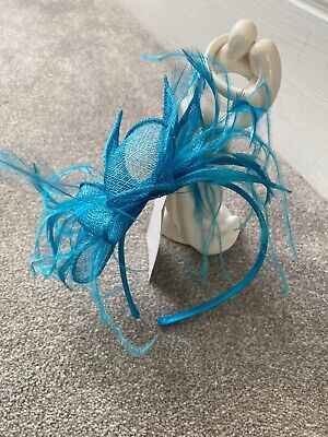 New Teal Wedding fascinator headband Ladies Day  Ascot Races