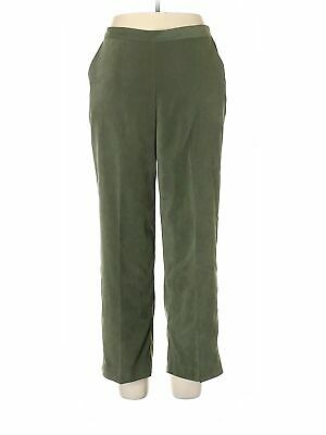Alfred Dunner Women Green Casual Pants 14 Petites