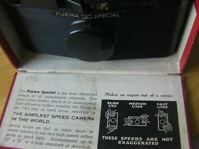 Purma Special Vintage Bakelite Camera in Original Box