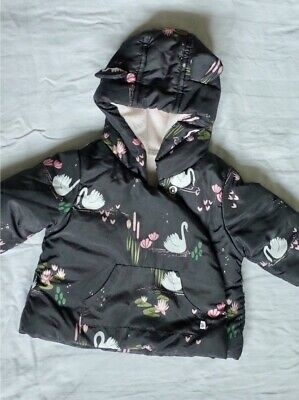 NEXT Baby Girl Swan Print Jacket Size Up To 1 Month - perfect condition