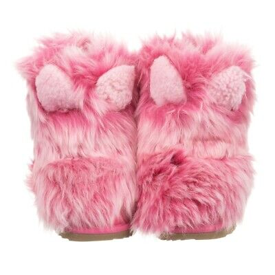 NEW KIDS GIRLS 3 BABY PINK UGG CLASSIC SHORT PATCHWORK FLUFF SHEEPSKIN BOOTS | eBay