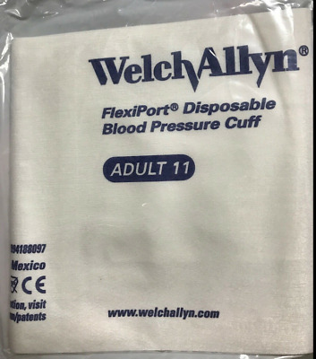 Lot of 20 WelchAllyn 901044 Flexiport Disposable Blood Pressure Cuff Adult 11