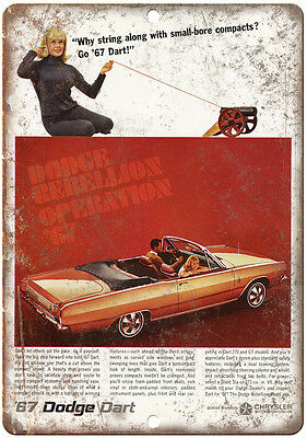 "1973 Dodge Charger Dodge Dart Vintage Ad 10/"" x 7/"" Reproduction Metal Sign"