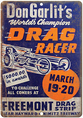 "Don Garlits 1971 Drag Racing USA 10/"" x 7/""  Retro Metal Sign Gene Snow"