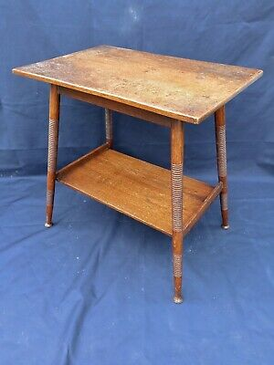 Antique oak arts and craft table after design by E W GOODWIN